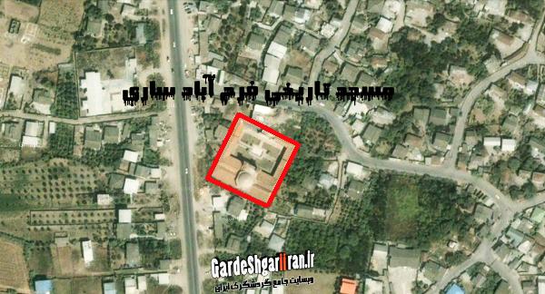 تصویر ماهواره ای مسجد فرح آباد ساری