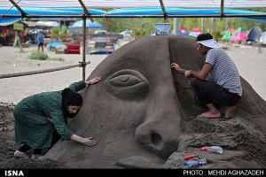 تصاویر دومین جشنواره منطقه ای مجسمه های شنی – لنگرود