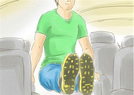 چگونه در پرواز تمرین تناسب اندام داشته باشیم؟ 7
