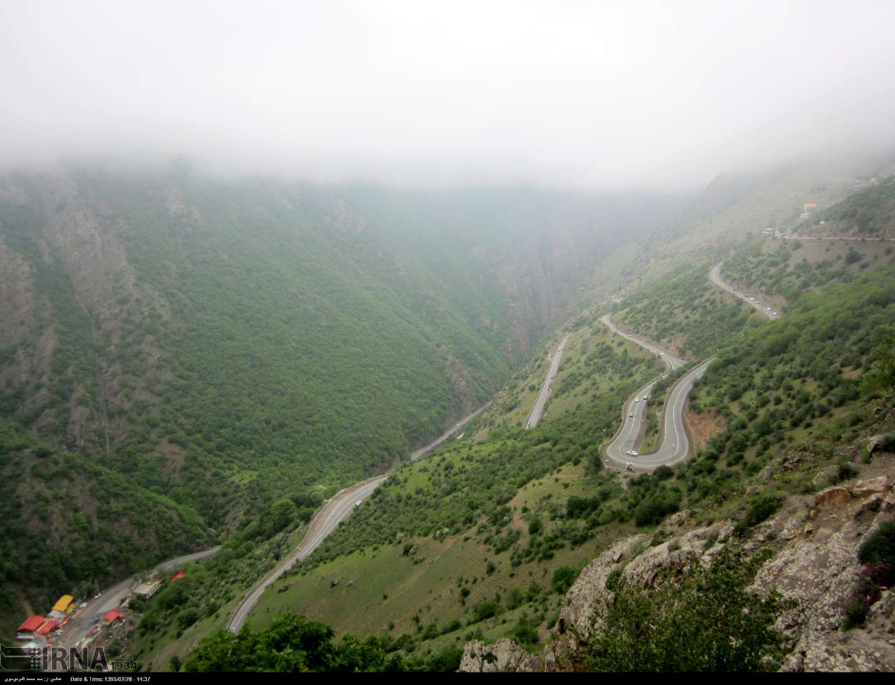 جاده چالوس (کندوان) چهارمین جاده زیبای جهان