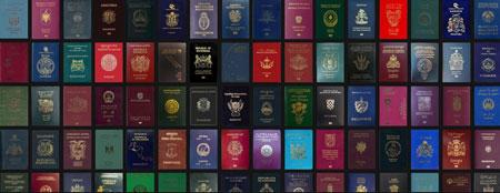 چگونگی رنگ جلد پاسپورت ها